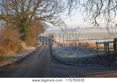 Cotswold Landscape In Winter