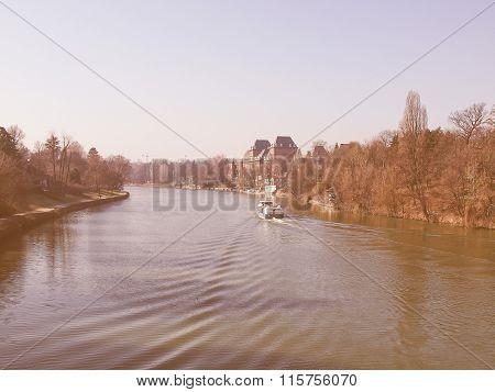 River Po, Turin, Italy Vintage