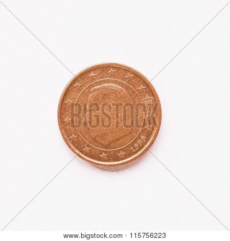 Belgian 1 Cent Coin Vintage