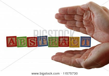 Abstract Abc Blocks Hands