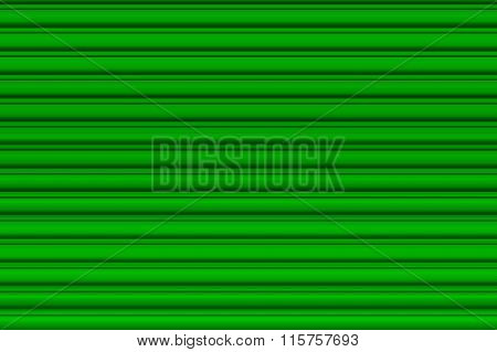 Light green garage door