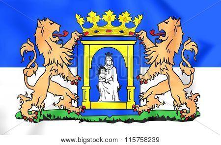 Flag Of Assen (drenthe), Netherlands.