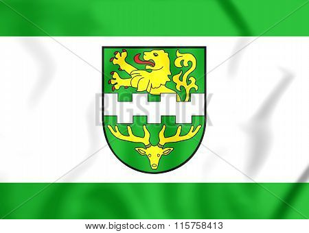 Flag Of Bergisch Gladbach (north Rhine-westphalia), Germany.