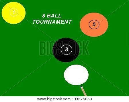8 Ball Tournament Sign