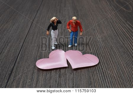 Love Issue Plastic Miniature People Lifestyle