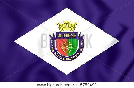 Flag Of Sao Caetano Do Sul (sao Paulo State), Brazil.