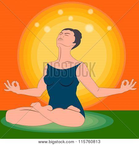 Power Yoga Exercise -Lotus Posture