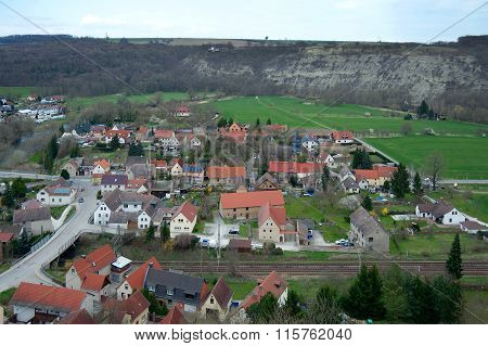 View Of Saaleck Town From Saaleck Fortress, Germany