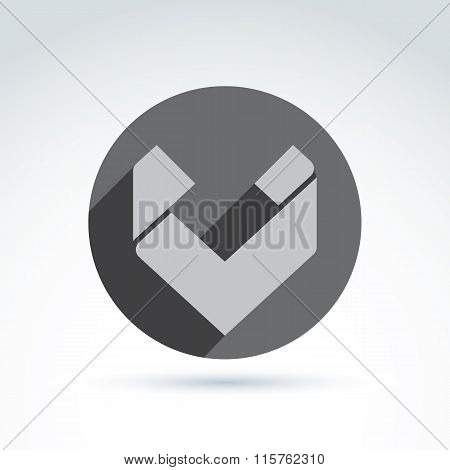 Vector abstract icon geometric simple checkmark symbol