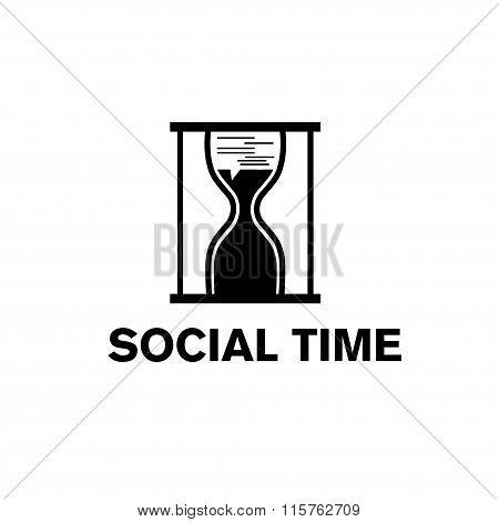 Sandglass Social Time Concept