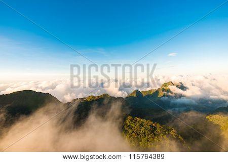 Peak Of Mountain Fog