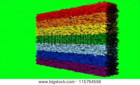 LGBT flag, rainbow flag made from clouds