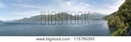 View Of Lago Maggiore, Lombardia. Italy.