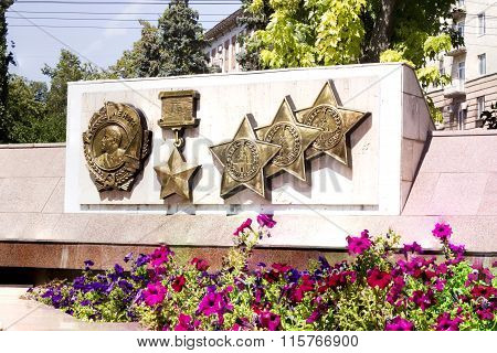 Orders And Medals Of The Great Patriotic War. Volgograd, Russia