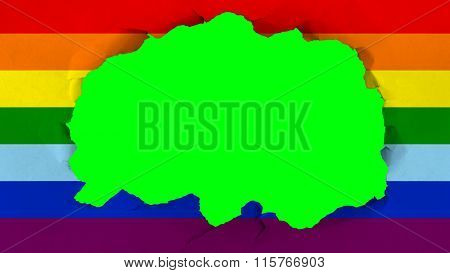 LGBT flag, rainbow flag painted on paper texture