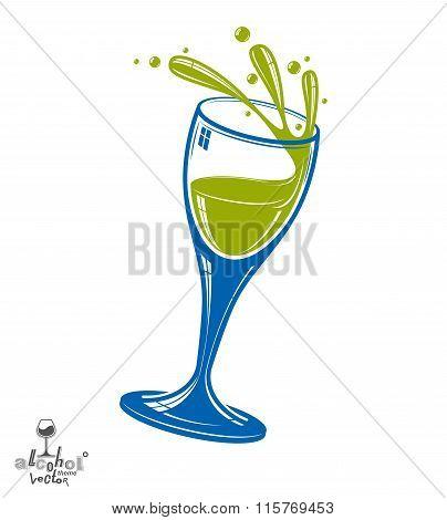 Alcohol Theme Vector Art Illustration