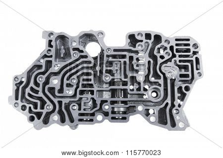 car engine : automatic transmission control center variator gearbox valve body brain