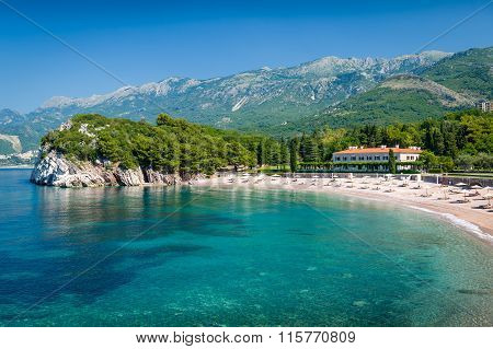 Adriatic sea sand beach