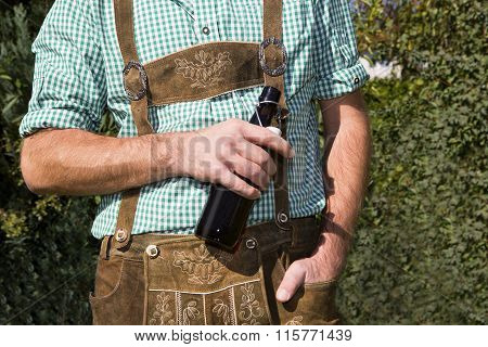 Bavarian With Bottle Of Beer