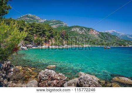 Adriatic sea coast view.