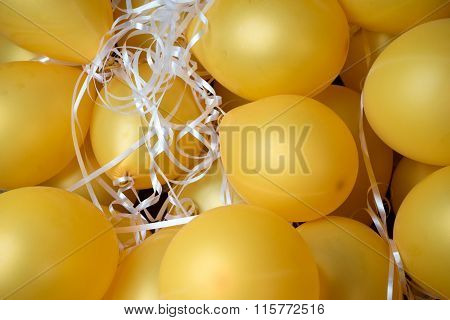 Group Of  Gold Air Ballon
