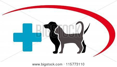 veterinary symbol with animal pet