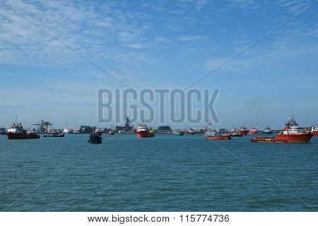 Ships on Labuan water