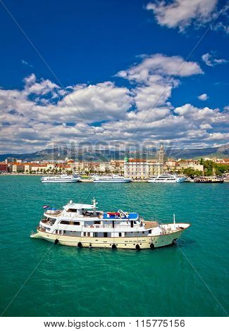 Turquoise Split Sea And Waterfront View