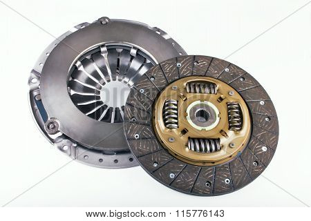 Clutch disc car on a white background