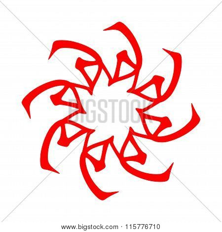 Symbol from chinese hieroglyphs. Translation of 10 zodiac stems, feng shui signs hieroglyph:'Soil