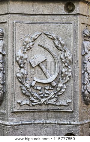 The Hammer And Sickle. Volgograd, Russia