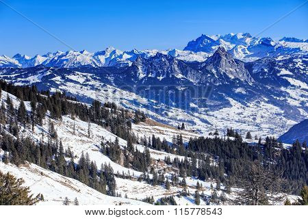 Alps, View From Mt. Rigi