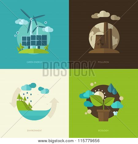 Set of vector flat design concept illustrations