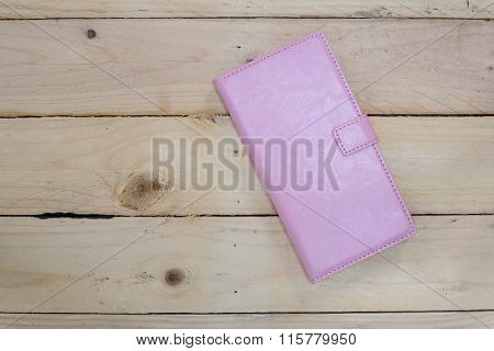 Pink Smartphone Leather Case Cover