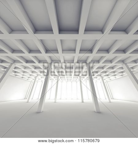 Abstract Architecture, Empty White Room 3 D