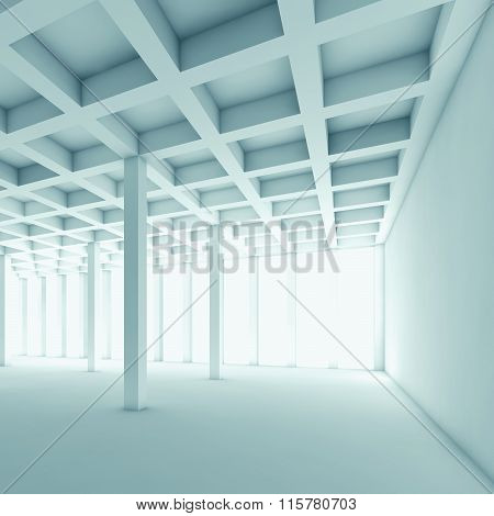 Abstract Architecture Background, Empty 3D Room
