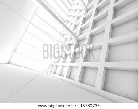 Perspective View Of Empty Room, 3D Illustration