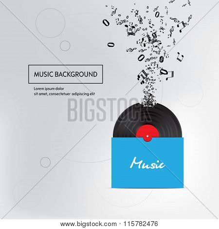 Music plate pack background. Isolated.