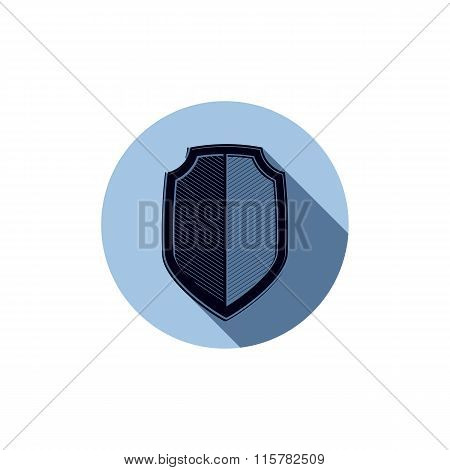 Stylish Defense Shield, Protection Idea Graphic Design Element. Detailed High Quality Illustration O