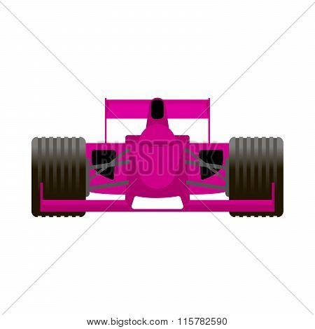 Pink Racing Bolide Car