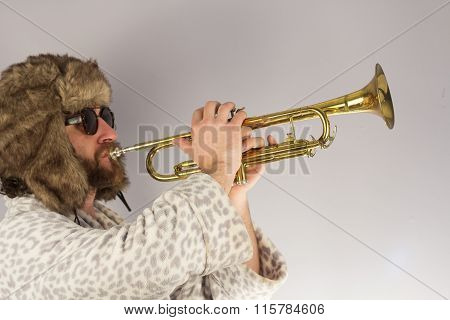 Bearded Hipster Trumpet