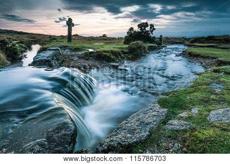 Water Flowing In Wild Creek