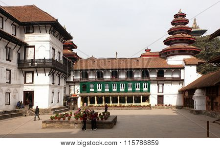 Old Royal Palace, Durbar Square In Kathmandu