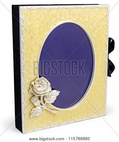 Beautiful Rich Photo Album With Frame On White Backround.