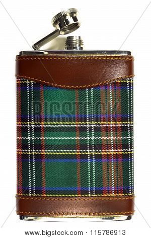 Tourist Flask For Drinks Isolated On The White Background