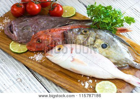 Fresh saltwater fish