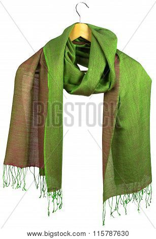 Yellow-green Women's Silk Scarf On Hanger