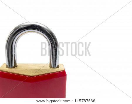 Closed Red Padlock