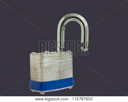 Unlocked Padlock Isolated