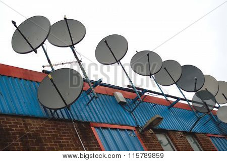 Group of satellite antennas